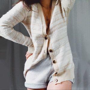 THE LIMITED • cozy cream Aztec cardigan sweater